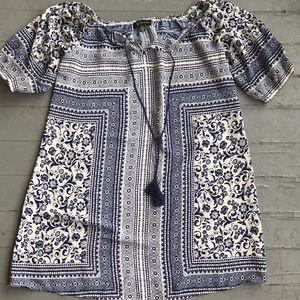 Beautiful boho semi sheer tunic shirt small